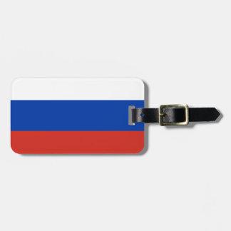 Russia National World Flag Luggage Tag