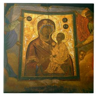 Russia, Novgorod Province, Tikhvin Monastery, Tile