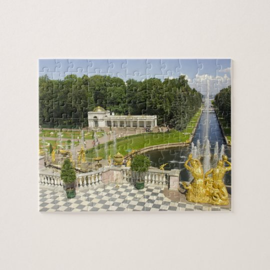 Russia. Petrodvorets. Peterhof Palace. Peter the Jigsaw Puzzle