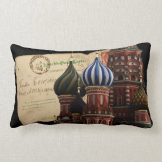 Russia Postcard Cathedral Lumbar Pillow