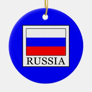 Russia Round Ceramic Ornament