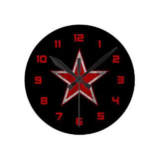 Russia roundel round clock