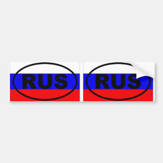 Russia RUS European oval Bumper Sticker