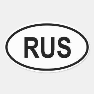 """Russia """"RUS"""" Oval Sticker"""