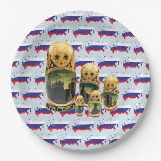 Russia - Russia babushka - Matrjoschka plate 9 Inch Paper Plate