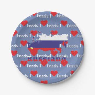 Russia - Russia plate 7 Inch Paper Plate
