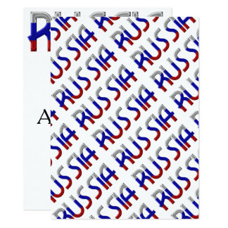 Russia Russian Flag Colors Typography Elegant Card