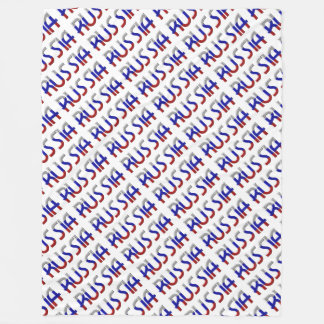 Russia Russian Flag Colors Typography Elegant Fleece Blanket