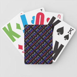 Russia Russian Flag Colors Typography Elegant Poker Deck