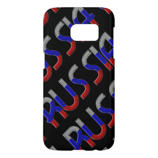 Russia Russian Flag Colors Typography Elegant Samsung Galaxy S7 Case
