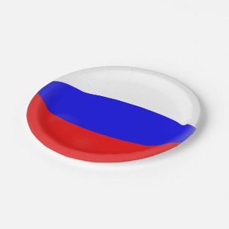 Russia Russian Flag Paper Plate