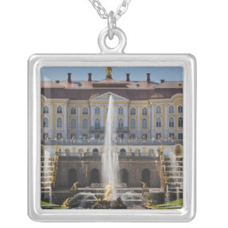 Russia, Saint Petersburg, Peterhof, Grand Palace Silver Plated Necklace