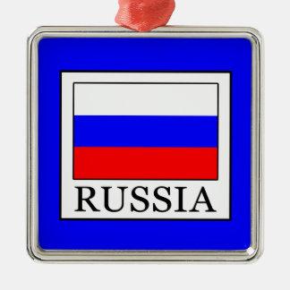 Russia Silver-Colored Square Ornament