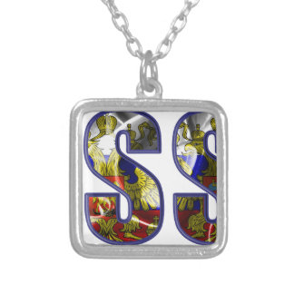 russia silver plated necklace