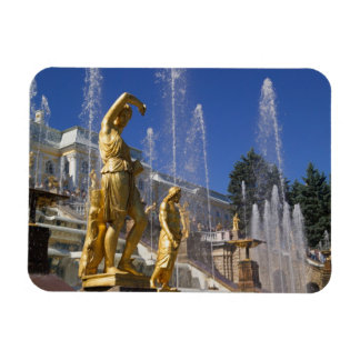 Russia, St. Petersburg, Golden statues in the Magnet