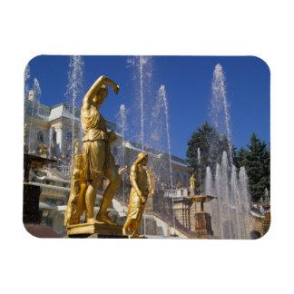 Russia, St. Petersburg, Golden statues in the Rectangular Photo Magnet
