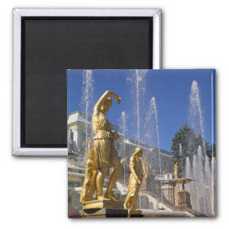Russia, St. Petersburg, Golden statues in the Square Magnet