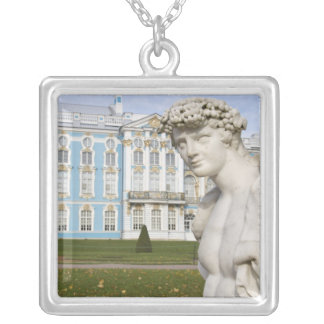 Russia, St. Petersburg, Pushkin, Catherine's 3 Square Pendant Necklace