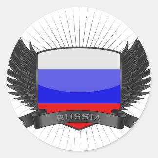RUSSIA ROUND STICKERS