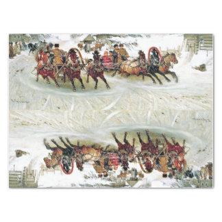 Russia Troika Horse Sleigh Snow Race Tissue Paper