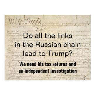 Russia Trump Tax Returns Investigation Postcard