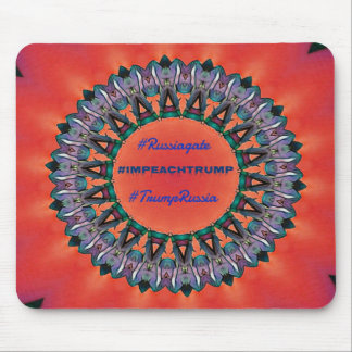 #Russiagate Red Purple Mandala Mouse Pad