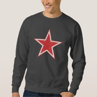 RUSSIAN AIR FORCE RED STAR WWII ROUNDEL RUSTIC SWEATSHIRT