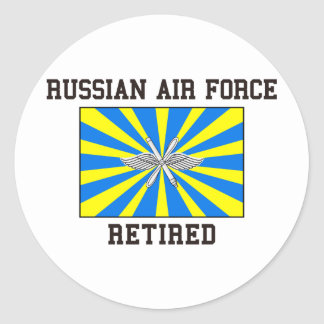 Russian Air Force Retired Classic Round Sticker