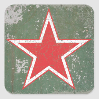 Russian Air Force WWII CCCP Roundel Square Sticker
