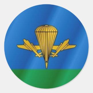 Russian Airborne flag Classic Round Sticker