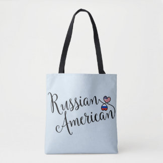 Russian American Entwined Hearts Grocery Bag