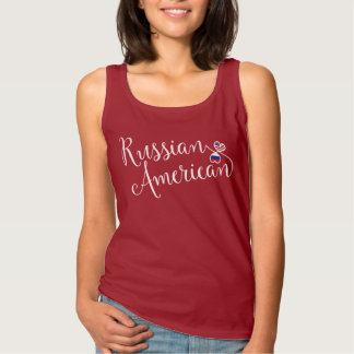 Russian American Entwinted Hearts Tank Top