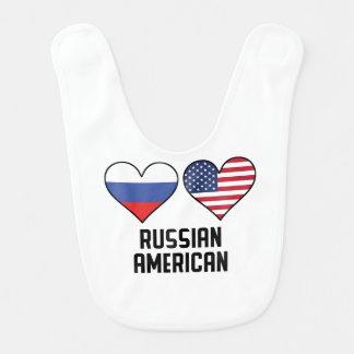 Russian American Heart Flags Bib