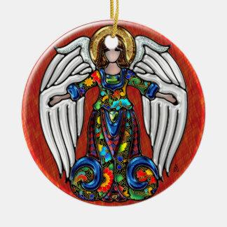 Russian Angel (Personalized Ceramic Ornament) Round Ceramic Ornament