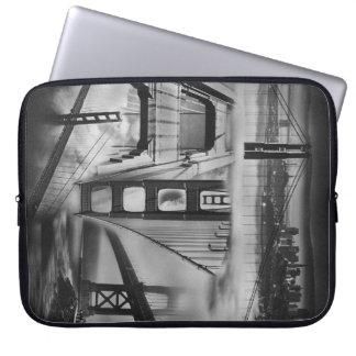 Russian Avant Garde Inspired Golden Gate Bridge Laptop Computer Sleeve