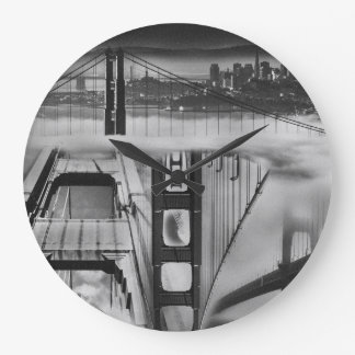 Russian Avant Garde Inspired Golden Gate Bridge Large Clock