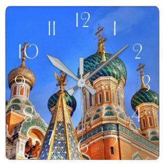 Russian Basilica Square Wall Clock