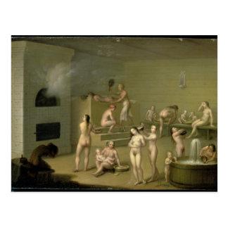 Russian Bath, 1825 Postcard