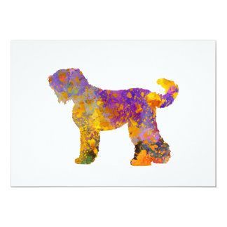 Russian Black Terrier 01 in watercolor 2 Card