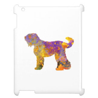Russian Black Terrier 01 in watercolor 2 Cover For The iPad