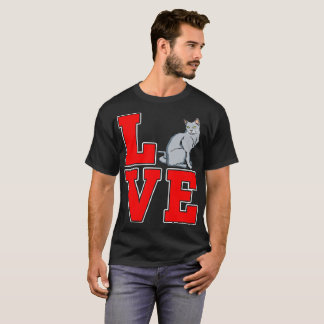 Russian Blue Cat Pets Love Gift Tshirt