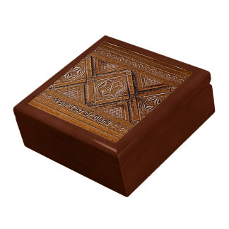 Russian Carved Wood Box Trinket Box