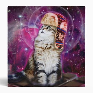 russian cat in space 3 ring binder