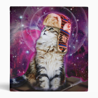 russian cat in space 3 ring binders