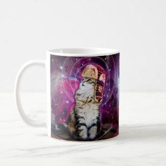 russian cat in space coffee mug