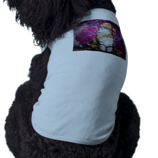 russian cat in space dog tee