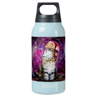 russian cat in space insulated water bottle