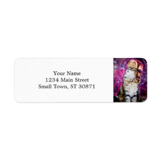 russian cat in space return address label