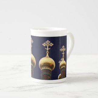 Russian Church Onion Domes Gold Bone China Mug