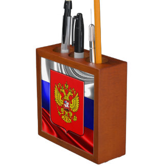 Russian Coat of arms Desk Organizer